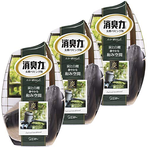 Estee Shoshuryoku Air Freshener from Japan. Scent 400ml 3 pieces Ã- deodorant force coal and sandalwood room