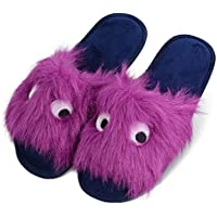 Fibure Womens Fuzzy Faux Fur Slippers