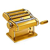 Marcato Atlas Made in Italy Pasta Machine, Made in Italy, Gold, Includes Pasta Cutter, Hand Crank,...