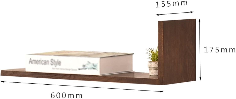 Chunlan Bookshelf Wooden Freedom Combination Bookshelf Living Room Bedroom Study Clapboard Frame Multi-Layer Shelf-60  17.5  15.5cm (color   Walnut Right, Size   60  17.5  15.5cm)