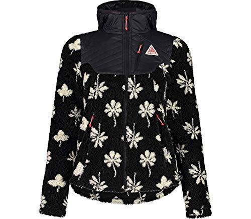 Maloja W Furtschellasm. Fleece Jacke Schwarz, Damen PrimaLoft Freizeitjacke, Größe M - Farbe Moonless Alpine Leaves