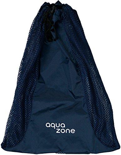 Bolsa de malla para nadar, buceo, bolsas de entrenamiento de natación con cordón, mochila deportiva (azul marino, 23 x 18)