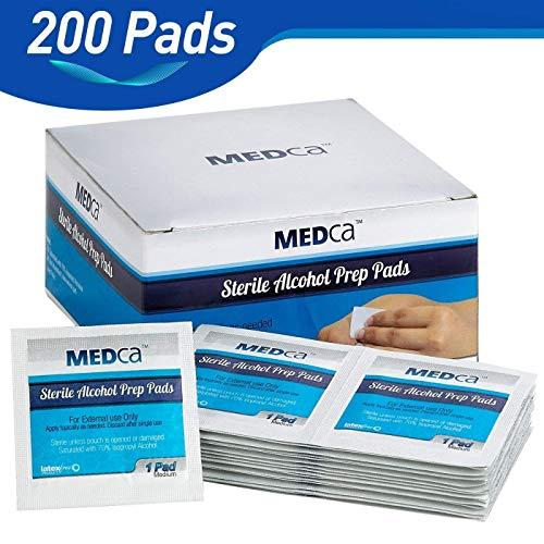 MEDca Alcohol Prep Pads, Sterile, Medium, 2-Ply PACK OF 200
