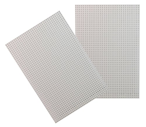 Ministeck 31203 - Steckplatte, ca. 33,3 x 26,6 cm, weiß, 2 Stück, Erweiterung und Zubehör für Mosaikbilder, ideale Ergänzung für Ihre Kreativität
