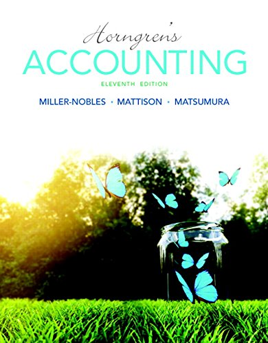 Horngren's Accounting Plus MyLab Accounting with Pearson eText -- Access Card Package (11th Edition) (Miller-Nobles et a