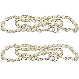 ancllo 2 pezzi cinturino in metallo per catena di ricambio con perle e fibbie, accessori per borse fai da te in metallo a tracolla per borsa a mano (120 cm)