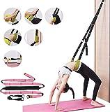 Price Xes Waist Back Bend Assist Workout, Door Flexibility & Yoga Stretching Leg Stretcher Strap w/Door Anchor, Ligament Back Posture Corrector Pilates Ballet Dancing Gymnastics Cheerleading (Pink)