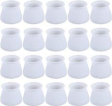 Cabilock Meubelhoes van siliconen voor stoelpoten, stoelpootbescherming, vloerbescherming, antislip vloerkussens voor rond...