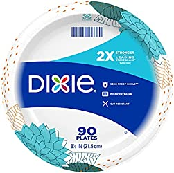 Dixie Paper Plates, 8 ½ inch, Lunch or Light Dinner Size Printed Disposable Plate, 1 count (1 pack o