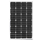 ZSPSHOP Solo Cristal 135W Voltaje De Salida del Panel Solar 18V A 12V Equipo De Sistema Generador De Carga De Batería