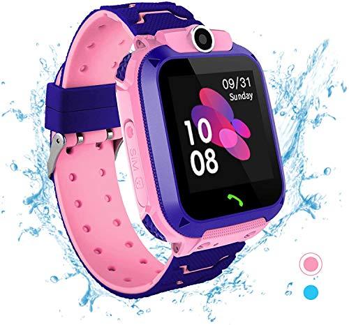 PLDDY Kinder-Smartwatch für Damen, offizielle Smartwatch für Kinder, Rosa