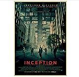 DUDUANLIAN Canvas Poster Inception Film Classic Movie Paper