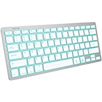 Omoton 7-Color Backlit Rechargeable Portable Bluetooth Keyboard