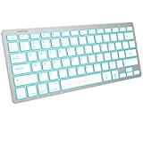 OMOTON Bluetooth Keyboard for iPad, 7-Color Backlit Rechargeable Portable Wireless Keyboard for iPad 8th/7th Generation 10.2, iPad Pro 12.9/11, iPad Air, iPad Mini, Silver