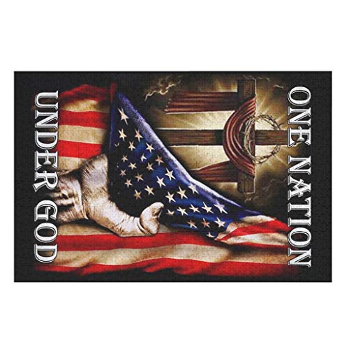 XJJ88 1000pcs Wooden 3D Nation Under American Flag DIY Jigsaw Puzzles,Large Size Game Toys Gifts Puzzles - for Adults Kids Entertainment white 200pieces