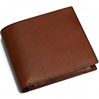 BizON(ビズオン) 博庵 二つ折り財布 (ブラウン) 札入れ ブラウン ひろあん ヒロアン スリム 日本製