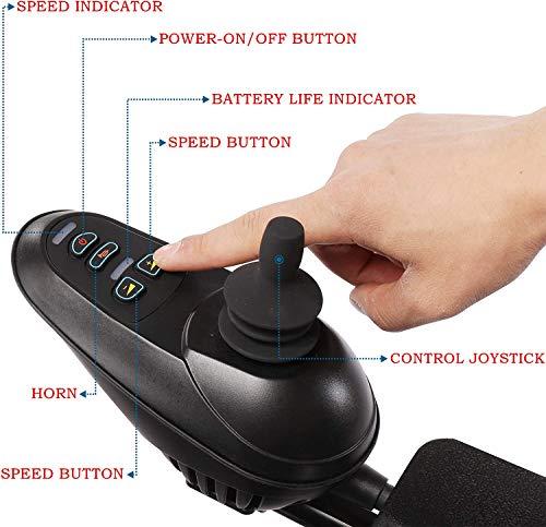 51+YBJGqwDL. SL500  - MUJO Silla de ruedas eléctrica Plegable Ligera Deluxe Plegable Potencia de movilidad compacta Silla de ruedas Peso