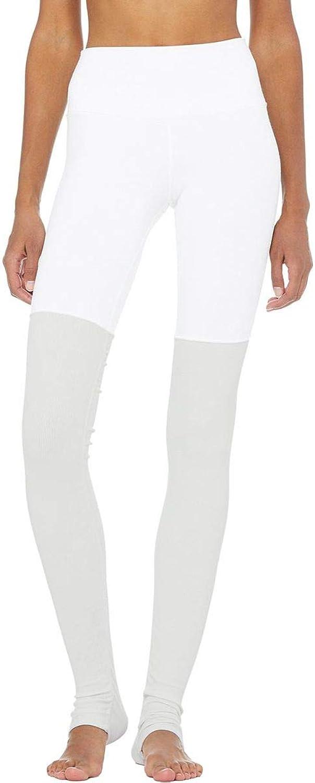 Alo Yoga HighWaist Goddess Legging  Women's White Dove Grey Heather, XS