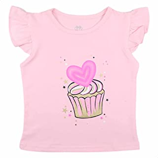 Z-Club Cup-Cake Print Short Sleeves Round Neck T-shirt for Girls 9-12 Months
