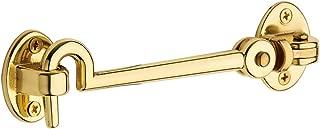 Baldwin Estate 0952.030 Solid Brass Swivel Cabin Door Hook in Polished Brass, 5.5