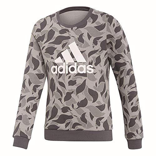 adidas adidas Mädchen Langarm Sweatshirt Crew Sweat, M Grey Heather/Grey Five/White, 110, DJ1321