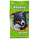 Organic dog food from Benevo. Complete vegan dry dog food. Wheat free dried kibble, hypoallergenic & healthy. Holistic & non-gm 2kg