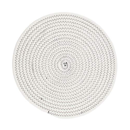 Homyl 30cm Coton Tressé Table Ronde Napperon Isolant Thermique Mat Blanc Foncé