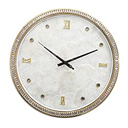 European Home Wall Clock With Rhinestone Shell Decoration