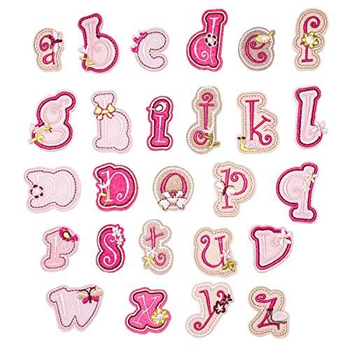 Butie Patches Eisen auf Patches Buchstaben 26 Stück A-Z Brief Patch DIY Motiv Aufbügeln oder Aufnähen Patches Applique Jeans Jacke Rucksack(R-39)