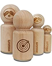 Archery Target Bullseye with Arrow Rubber Stamp for Stamping Crafting Planners - 1/2 Inch Mini
