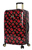 Betsey Johnson 26 Inch Checked Luggage Collection - Expandable Scratch Resistant...