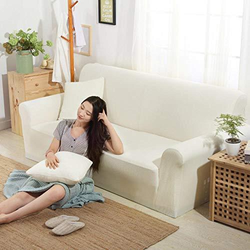 HXTSWGS Funda de sofá con Jacquard,Funda elástica para sofá, Funda para sofá de Sala de Estar, Funda para Muebles elástica-Yue Haobai_145-185cm