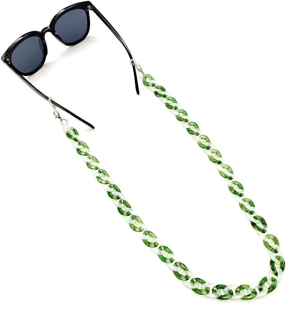 RYRA 2 en 1 Cadena de gafas de acr/ílico gafas de sol Collar Porta gafas para mujeres Hombres Ni/ñas Ni/ños