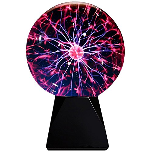 Lebbeen Glass Plasma Ball Sphere Lightning Light Lamp Party magical ball electrostatic flashing ball (5.0 Inches)