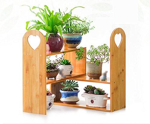 QFF Porte - fleurs en bois Rayonnages en bois à plusieurs étages, balcon, salon, multi - fleur, pots, racks, racks