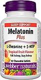 Webber Naturals Super Sleep Melatonin Plus L-Theanine & 5-HTP, 40 Chewable Tablets