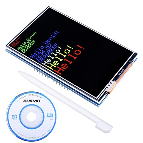 kuman 3.5 TFT Touch Screen with SD Card Socket for Arduino R3 Board Module with Touch Function SC3A-1