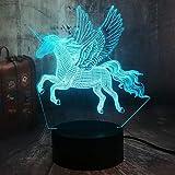 Lampada a forma di unicorno, regalo romantico, luce notturna LED per bambini, 7 colori che cambiano USB, decorazione per la casa, lampada da tavolo, Atmosfera regalo di Natale, regalo di compleanno