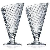 Bormioli Rocco Gelato Sundae Fruit Cream Dessert Ice Glassware Bowl Cone Shaped Glasses