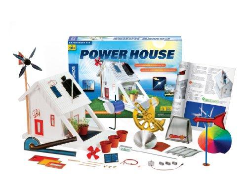 Themse & Kosmos 625825 Power House, Nachhaltiges Wohnen im 21. Jahrhundert, Harness Clean Energy from Sonne und Wind, Kit 100 Experimente, Alter 10+, Multi, 1.3