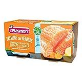 6x PLASMON Salmone con patate homogenisiert Babynahrung 2x80g Lachs mit Kartoffeln ab 6 Monaten -