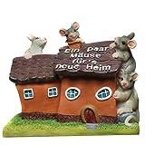 Spardose / 'Für's neue Heim' / mit Mäuse