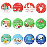 36 Pieces Merry Christmas Button pins Xmas Pin Badges Christmas Mini Pinback Buttons for Xmas Party Favors Supplies