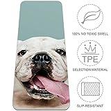 Desheze Zunge heraus Bulldogge YogaMatte Fitnessmatte TPE Umweltschutz rutschfeste 6mm...