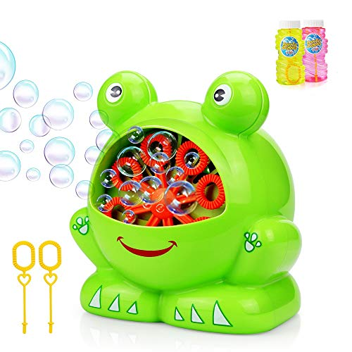 Betheaces NO.321 Bubble Machine with 2 Bottles of Liquid, Automatic Bubble Maker Toys for Kids Boys Girls Baby Toddlers, Bubble Blower 500 Bubbles per Minute Gifts for Indoor Outdoor Garden Game