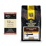 Christopher Bean Coffee - Mocha Almond Fudge Flavored Coffee, (Regular Ground) 100% Arabica, No Sugar, No Fats, Made with Non-GMO Flavorings, 12-Ounce Bag of Regular Ground coffee