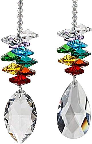 2021 Sun Catcher Crystal Ball Prism Rainbow Octogon Chakra Hanging Suncatcher Window Sun Catcher 2021 Rainbow lowest Maker with Colors Crystal Pendants, Set of 2 outlet sale