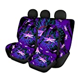 YSTARDREAM Purple Dragonfly Sunflower Car Seat Covers Girly Full Set for Women Universal Front and Back Bucket Seat Covers for Cars Suvs Trucks Decorative Car Interior Accessories Set Seat Covers