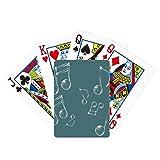 Música Notación Burbuja Combinación Patrón Poker Jugar Tarjeta Mágica Divertida Juego de Mesa