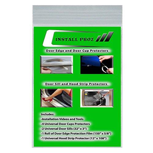 Install Proz Self-Healing Clear Paint Protection Film Kits (Bundle-Hood Strip, Door Edge, Door Cup, Door Sill)